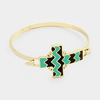 Chevron Zigzag Cross Bracelet