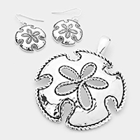 Rope Edged Sand Dollar Pendant Set