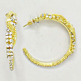 Crystal Rhinestone Chain Hoop Earrings