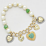 Pearl Heartbeat Stretch Bracelet
