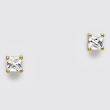 CZ Surgical Steel Stud Earrings