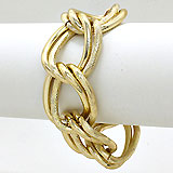 Chunky Double Loop Chain Bracelet