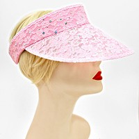 Dotted Empty Top Nylon Lace Flower Hat