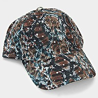 Dotted Animal Print Cotton Baseball Cap