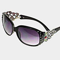 Crystal Polka Dotted UV Protection Sunglasses