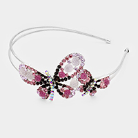 Stone Pave Double Butterfly Headband