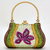 Crystal Pave Flower Evening Dazzle Purse