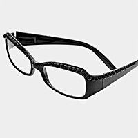 Crystal Lined Rectangular Reading Glasses