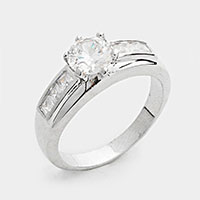 Prong Set CZ Ring