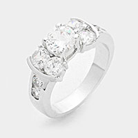 Prong Set CZ Bow Ring