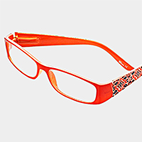 Boho Floral Pattern Curved Rectangle Reading Glasses
