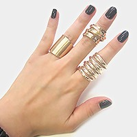 3-PCS Metal Ring Set