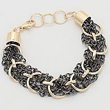 Continuous Chain Looped Metal Link Bracelet