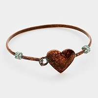 Metal heart hook bracelet