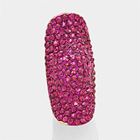 Crystal Rhinestone Pave Stretch Cocktail Ring