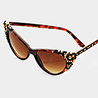 Bubbly Leopard Cat Eye UV Sunglasses