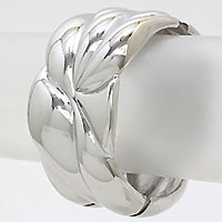 Convoluted Metal Hinged Bracelet