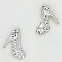 Crystal Stiletto Stud Earrings