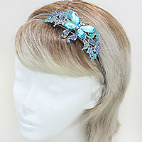 Pave Butterfly Metal Headband