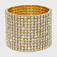 13-Row Rhinestone Stretch Bracelet