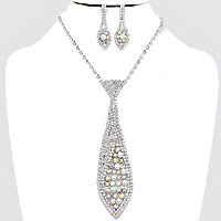 Pearl Necktie Evening Necklace