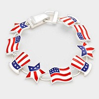 USA Flag Themed Magnetic Bracelet