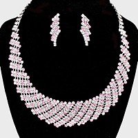 Crystal Rhinestone Round Collar Necklace