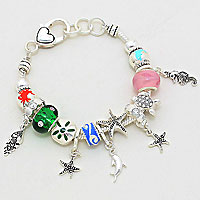 Multi-Beaded Sea Life Themed Bracelet