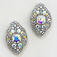 Gatsby Inspired Crystal Clip Earrings