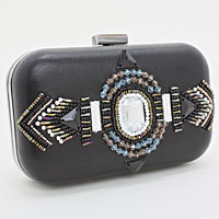 Bohemian Hard Case Clutch