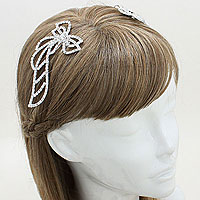 Ribbon Hair Comb Stick Pair