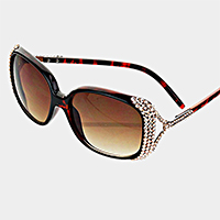 Oversized Crystal Adorned Sunglasses