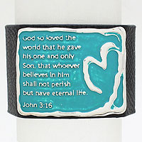 John 3:16 Leather Wrap Bracelet