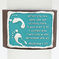 Matthew 8:19 Leather Wrap Bracelet