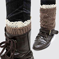 Acrylic Knitted Leg Warmer/ Boot Topper