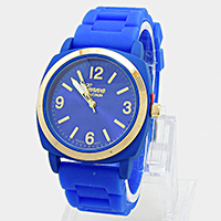 Round Face Meshed Silicon Watch