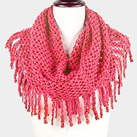 Mini tube fringe scarf
