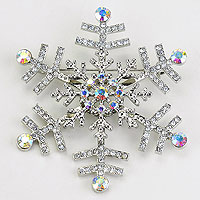 Snowflake Pin Brooch