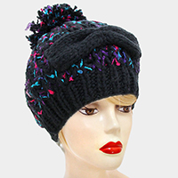 Cotton Confetti Pom Hat
