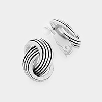 Intertwined Clip-On Earrings
