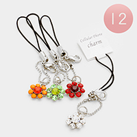 Stone Flower Cell Phone Charm Straps