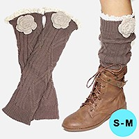 Flower Acrylic Leg Warmer/ Boot Topper