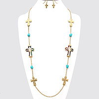 Cross String Necklace
