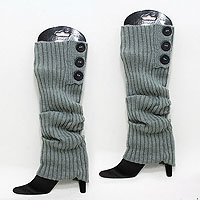 Acrylic Striped Leg Warmer/ Boot Topper