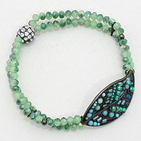 Paradise Leaf Stretch Bracelet