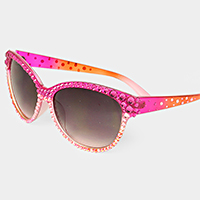 Wacky Studded Round Sunglasses