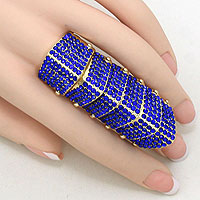 Crystal Pave Armor Stretch Ring