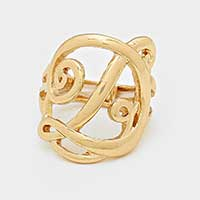 'D' Monogram Stretch Ring
