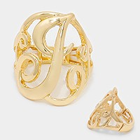 'J' monogram stretch ring