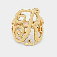 'R' Monogram Stretch Ring
